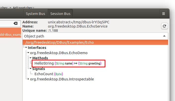 Ubuntu Linux에서 dbus-c++바인딩 D-Bus 테스트 - Linux